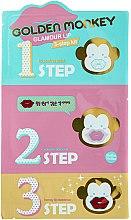 Voňavky, Parfémy, kozmetika Súprava na starostlivosť o pery - Holika Holika Golden Monkey Glamour Lip 3-Step Kit