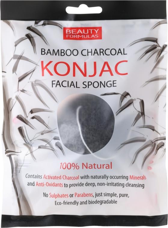 Hubka na umývanie - Beauty Formulas Konjac Bamboo Charcoal Facial Sponge