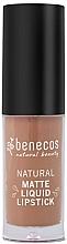 Voňavky, Parfémy, kozmetika Tekutý matný rúž - Benecos Natural Matte Liquid Lipstick
