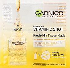Voňavky, Parfémy, kozmetika Látková maska s vítaminom C - Garnier SkinActive Fresh-Mix Sheet Mask with Vitamin C