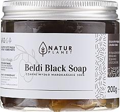 Voňavky, Parfémy, kozmetika Čierne marocké mydlo Beldi - Natur Planet Moroccan Beldi Black Soap