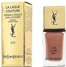 Voňavky, Parfémy, kozmetika Matný lak na nechty - Yves Saint Laurent La Laque Couture The Mats