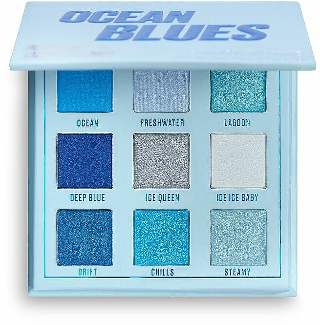 Paleta očných tieňov - Makeup Obsession Ocean Blues Eyeshadow Palette