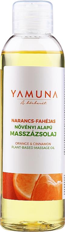 "Masážny olej ""Pomaranč-škorica"" - Yamuna Orange-Cinnamon Plant Based Massage Oil"