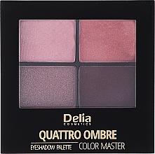 Voňavky, Parfémy, kozmetika Očné tiene - Delia Quattro Ombre Color Master
