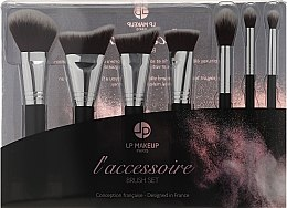 Voňavky, Parfémy, kozmetika Sada Sada štetcov pre make-up, 7ks. - LP Makeup Set Of Seven Professional Brushes L'accessoire With Leather Bag