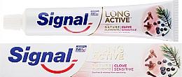 Voňavky, Parfémy, kozmetika Zubná pasta - Signal Long Active Nature Elements Clove Sensitive