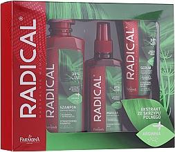 Voňavky, Parfémy, kozmetika Sada - Farmona Radical Set (schm/400ml + h/spray/200ml + ser/100ml)