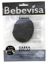 """Voňavky, Parfémy, kozmetika Hubka na umývanie, oválna """"Bambusové uhlie"""" - Bebevisa Konjac Sponge"""