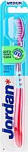 Voňavky, Parfémy, kozmetika Zubná kefka, strednej tvrdosti Target, ružová s modrou - Jordan Target Teeth & Gums Medium