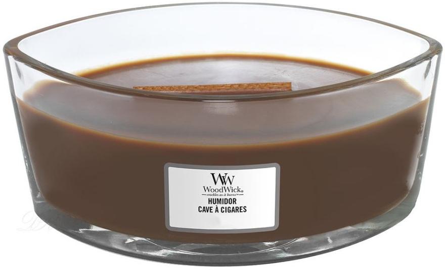 Vonná sviečka v pohári - WoodWick Humidor Ellipse Scented Candle — Obrázky N2